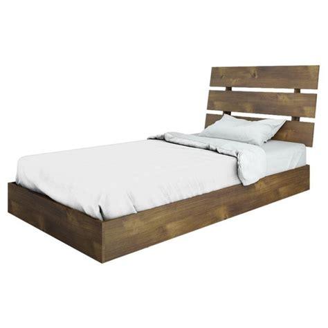 nexera bed nexera nocce modern platform twin bed in truffle 401239