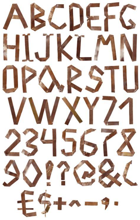 Origami Font - copper origami font handmadefont