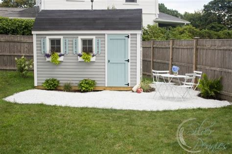 Patio Shed by She Shed Diy Gravel Patio Finding Silver Pennies