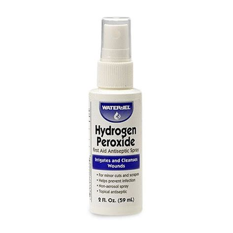 Shelf Of Peroxide by Waterjel Hydrogen Peroxide Spray 2oz Bottle