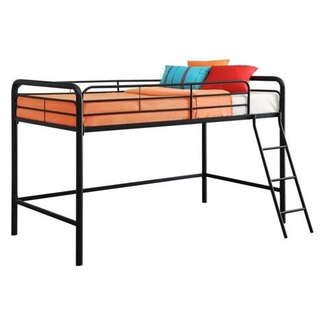 metal loft bed dhp junior metal loft bunk bed black ebay