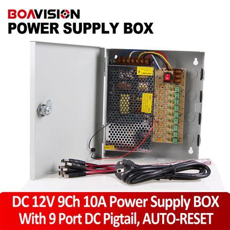 Sale Power Supply Box 10a aliexpress buy power supply 12v 10a power supply box cctv ccd 12v dc 9 port