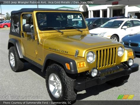 Inca Gold Metallic 2003 Jeep Wrangler Rubicon 4x4