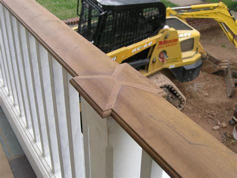 outdoor banister railing outdoor wood railings decks fencing contractor talk