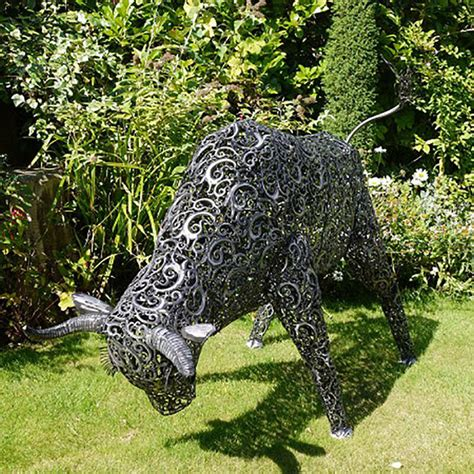 garden metal sculptures large metal bull garden sculpture sculptures candle