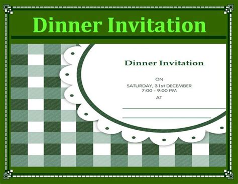 dinner invitation templates free free word templates part 2