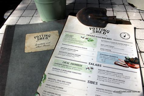 Potting Shed Menu by The Grounds Of Alexandria Sydney Cafe Garden Centre