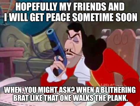 Hook Meme - captain hook get peace imgflip