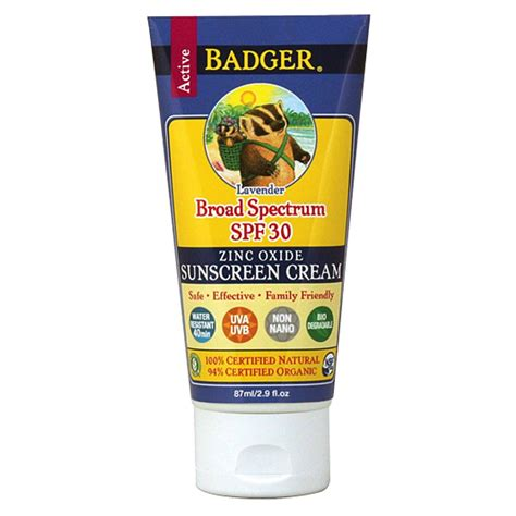 Badger Zinc Oxide Tinted Sunscreen Sz badger broad spectrum spf 30 tinted sunscreen lavender 2 9