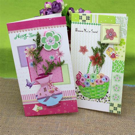 Wholesale Handmade Greeting Cards - 8 pieces lot wholesale handmade diy creative greeting