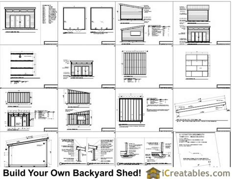16x16 Shed Plans Free by 16x16 Studio Shed Plans Large Modern Shed Plans