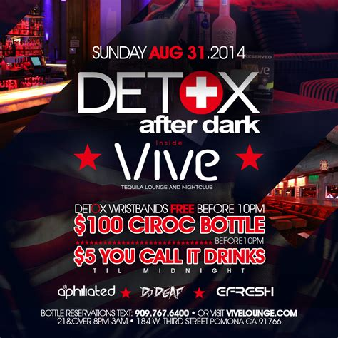 Club Detox Pomona by Detox After Vive Lounge Tickets The Vive Lounge