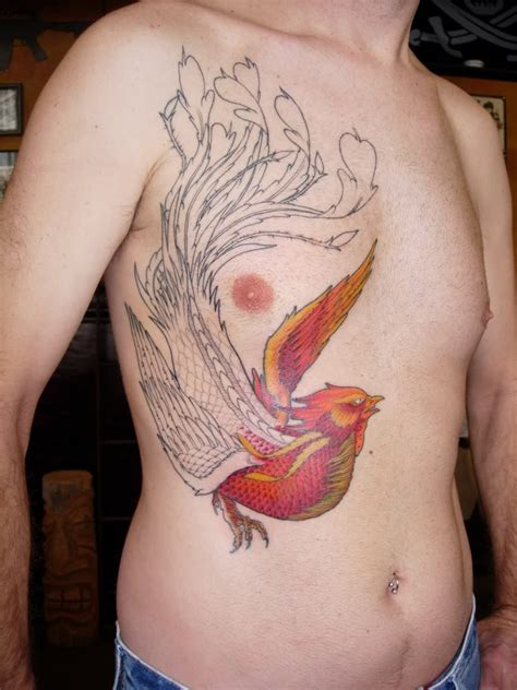 phoenix chest tattoo designs 01 the collectioner