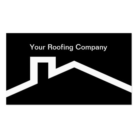Create Your Own Contractor Business Cards Roofing Business Card Templates