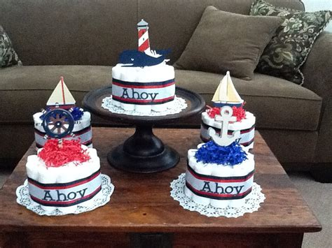 nautical themed baby shower centerpieces ahoy its a boy nautical sailing baby shower centerpiece