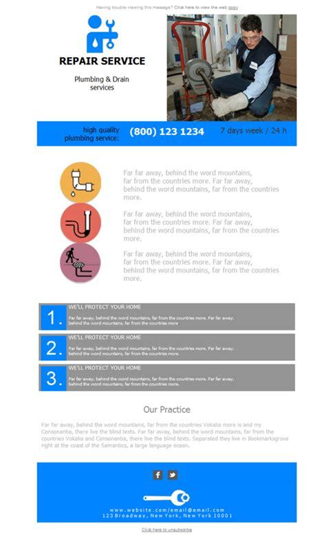 free newsletter template plumbing hvac repair