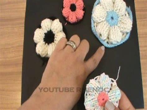 como tejer carpeta con muecas 1 de 2 como tejer flor con punto relieve ganchillo