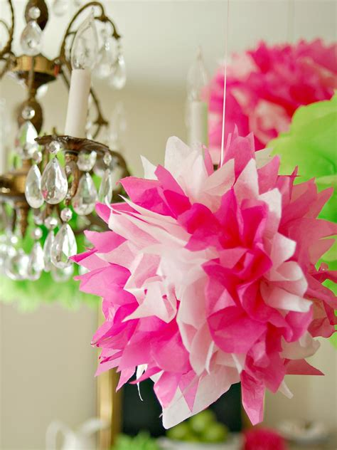 How To Make Large Paper Pom Poms - how to make tissue pom poms hgtv