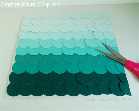 how to get a paint chip off the wall craftaholics anonymous 174 paint chip art with ombre