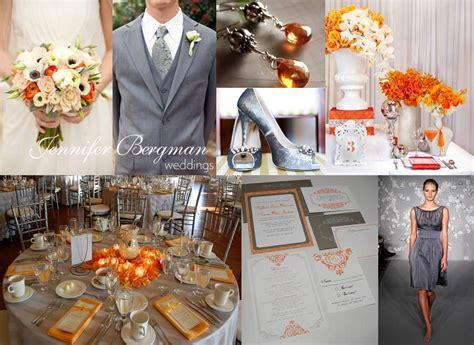 grey and orange wedding inspiration board bergman weddings