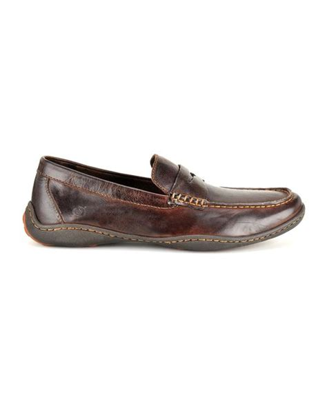 born loafer born simon casual loafers in brown for lyst