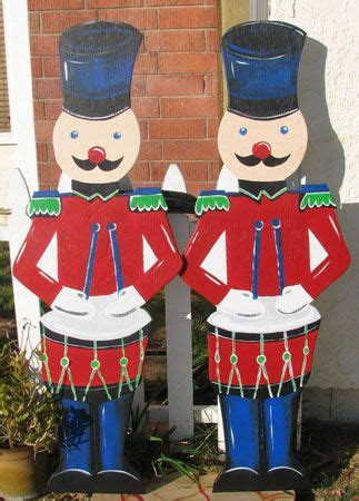 christmas holiday wooden cutout lawn decorations