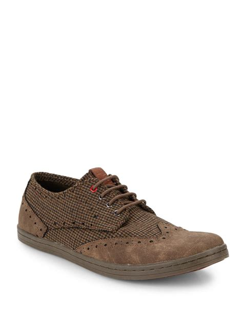 wingtip sneakers ben sherman nick canvas wingtip sneakers in brown for