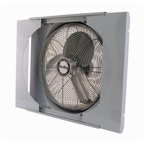 whole house window fan air king 9166 20 inch 3560 cfm whole house window mounted