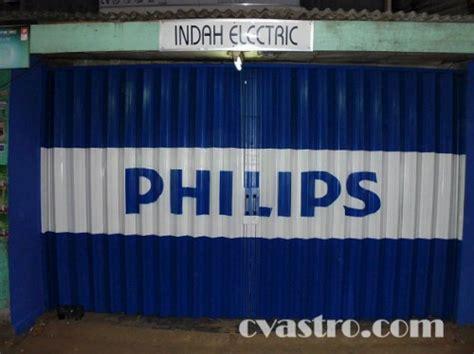 pengecatan branding toko elektronik produk philips di jakarta