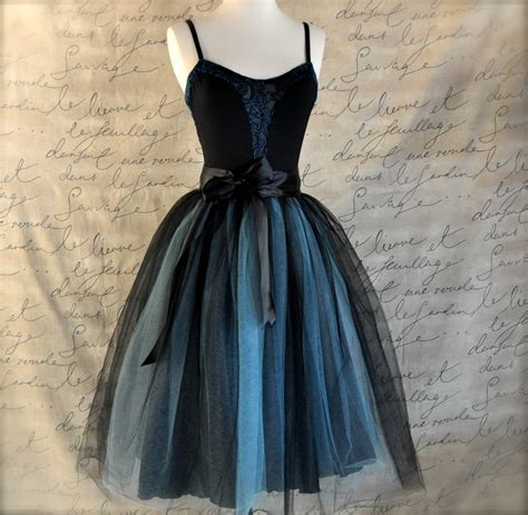 black and blue aqua tutu skirt for ballet