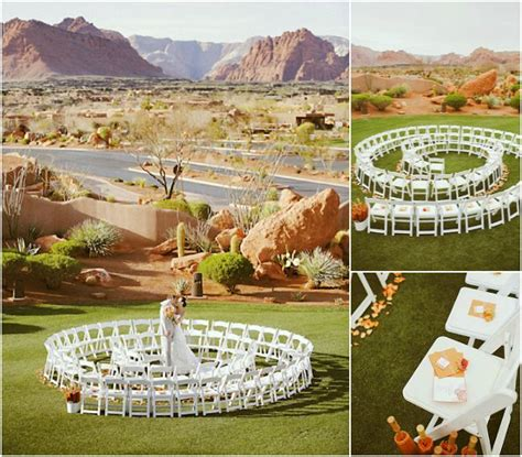 Unique Backyard Wedding Ideas Unique Ceremony Seating Ideas For Outdoor Weddings