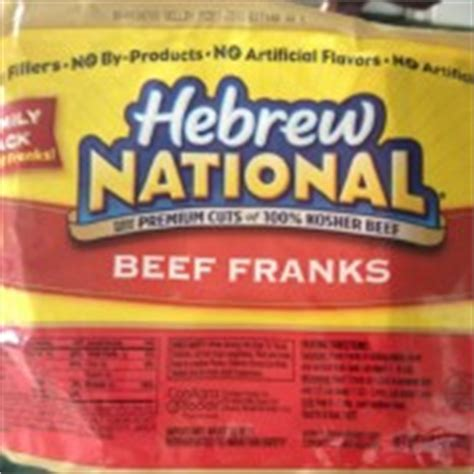 hebrew national calories hebrew national franks beef calories nutrition analysis more fooducate