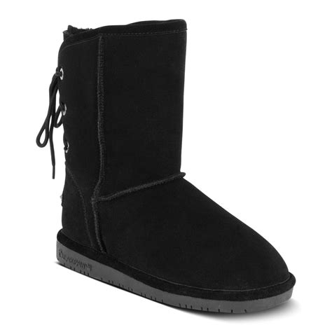 bearpaw shoes bearpaw bearpaw shoes elizabeth boots in black pom berry