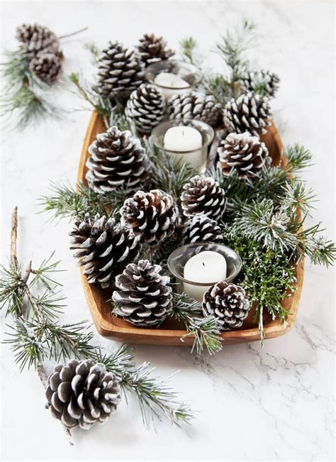 3 Minute DIY Snow Covered Pine Cones & Branches {3 Ways