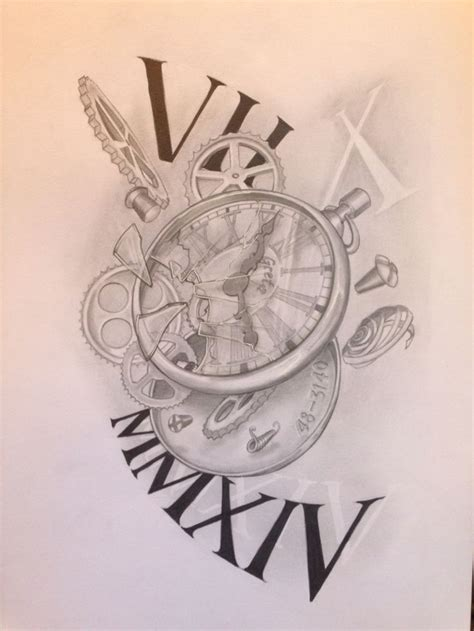 broken art tattoo collection of 25 broken clock flash