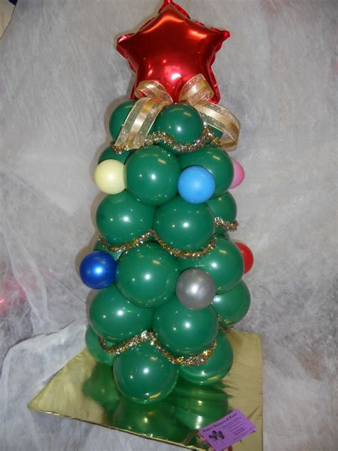 balloon christmas tree craft ideas pinterest