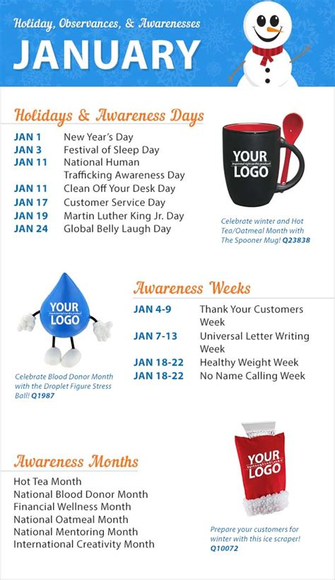 new year 2016 promotion ideas january 2016 holidays observances and awareness dates