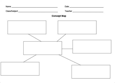 Concept Map Template Free Premium Templates In Free Nursing Concept Map Template Printable Concept Map Template