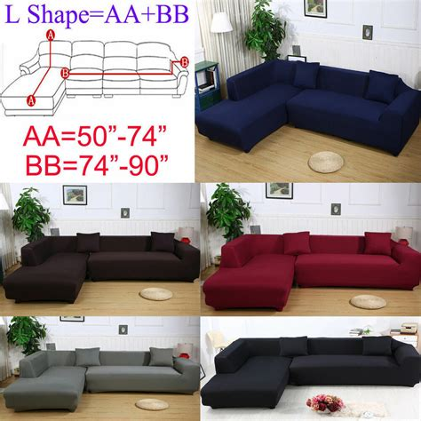 Cover For L Shaped by 2seats 3seats Plush Stretch Sure Fit L Shaped Sectional