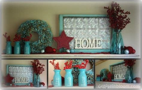 home decor with turquoise red and turquoise for christmas home decor diy pinterest