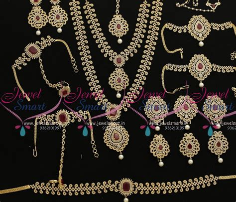 buy indian jewelry online latest indian fashion bridal br7933 ruby white latest design grand full bridal ad