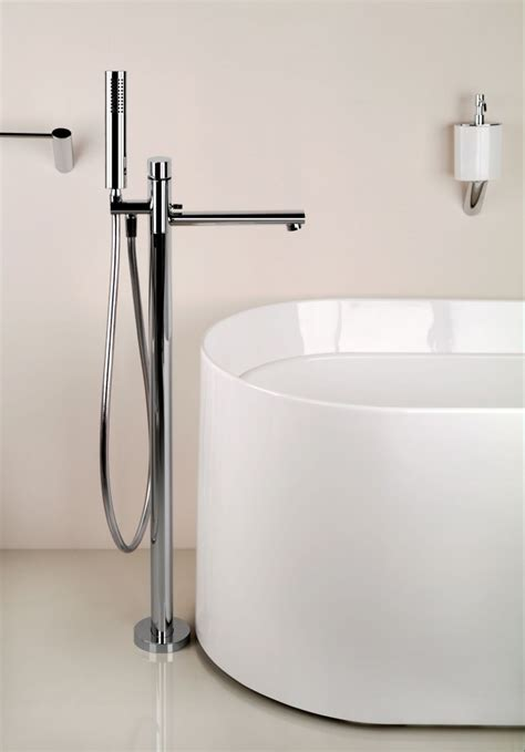 bathtub filler ovale floor mount tub filler w hand shower 2 jack london