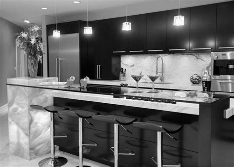 Black And White Kitchens And Their Elements Kitchen Cabinets Black And White