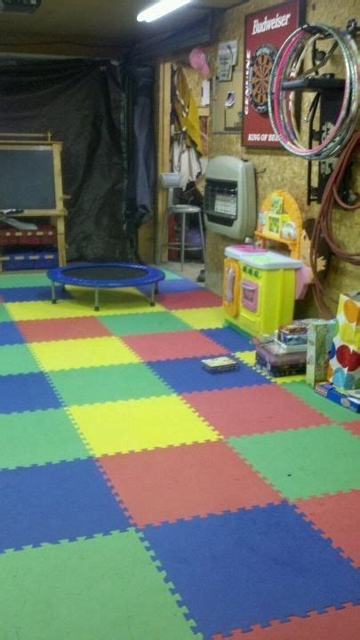 17 best ideas about garage playroom on