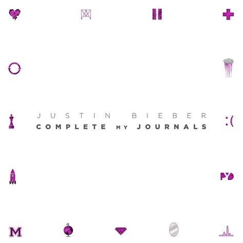 justin bieber novo album journals quot journals quot di justin bieber la copertina dell album e dei