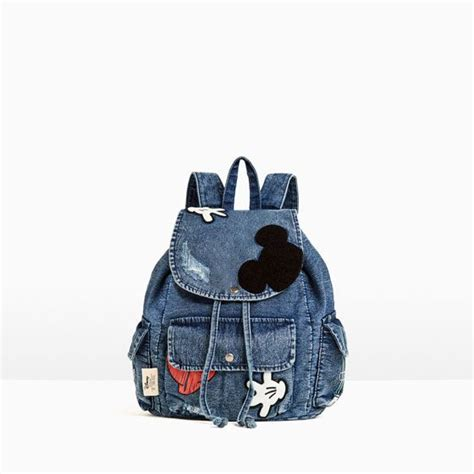 Mickey Denim mickey mouse denim backpack for the bug