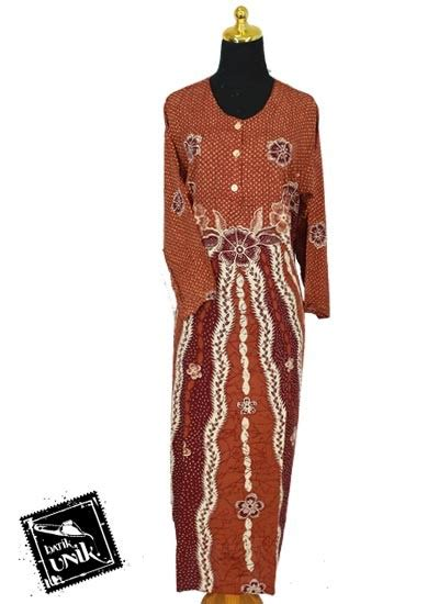 Gamis Daster Panjang Longdress baju batik longdress santhung motif bunga putri malu