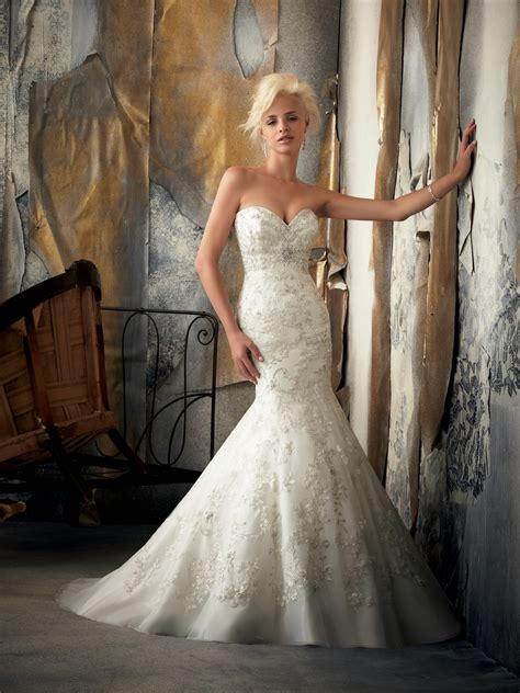 sweetheart mermaid wedding dress with by mori