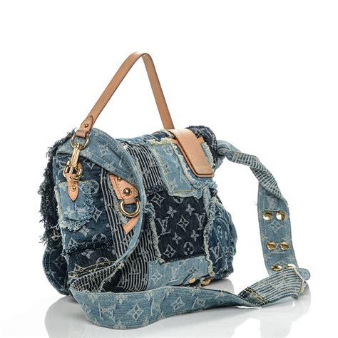 Patchwork Messenger Bag - louis vuitton denim patchwork posty messenger bag blue 187785