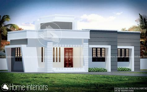Kerala Home Design 1000 Sq Ft by 1000 Square Feet Single Floor Contemporary Home Design